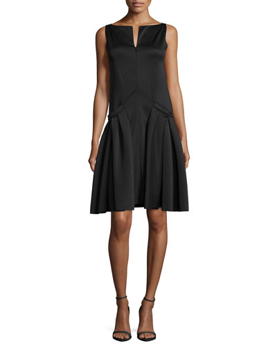 Polished Jersey Drop-Waist Dress
