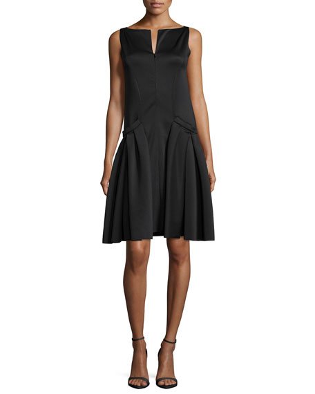 Armani Collezioni Polished Jersey Drop-Waist Dress