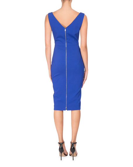 Sleeveless Bustier Sheath Dress