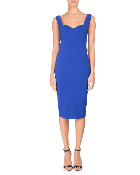 Sleeveless Bustier Sheath Dress by Victoria Beckham
