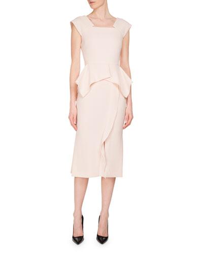 Sawleigh Peplum Sheath Dress, Blush