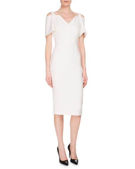 Roland Mouret Awalton Cold-Shoulder Sheath Dress