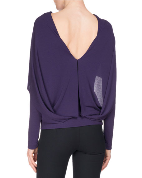 Bagnet Cowl-Neck Long-Sleeve Top