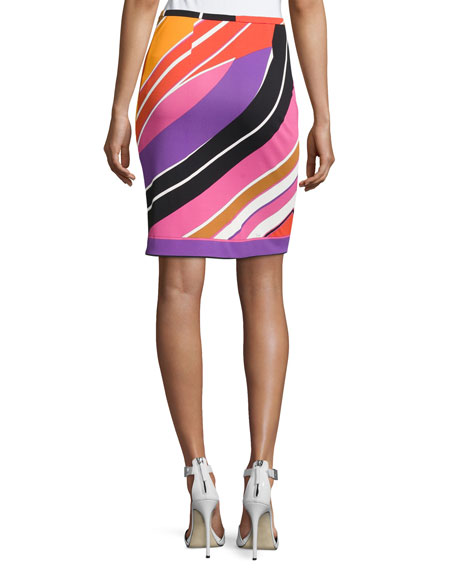 Printed Slim Miniskirt