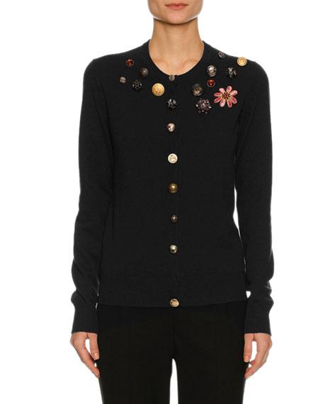 Dolce & Gabbana Button-Embellished Cashmere Cardigan