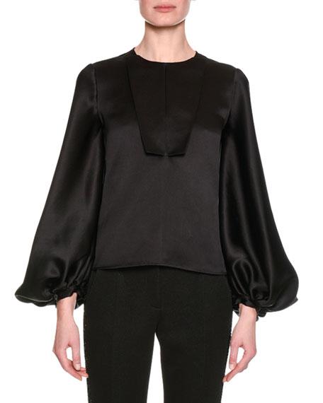 Giorgio Armani Embellished Slim-Straight Pants, Black and