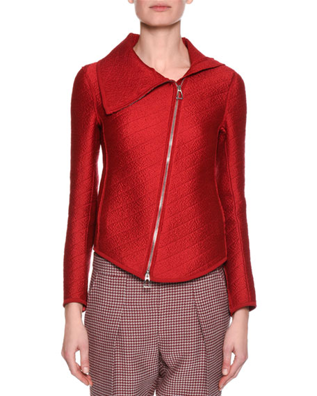 Giorgio Armani Houndstooth Cropped Pant, Red and Matching