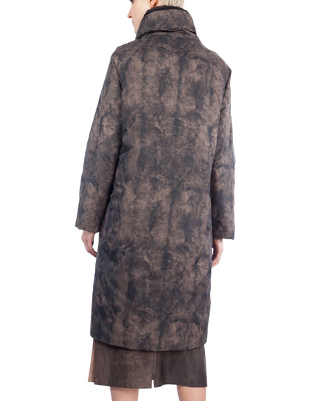 Martina Reversible Quilted Coat, Sepia