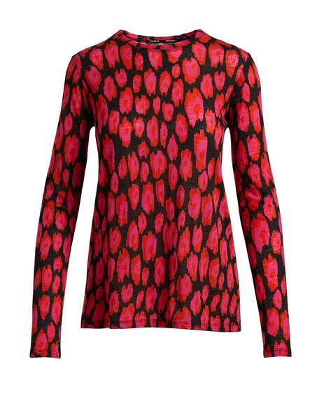 Ikat Leopard Long-Sleeve T-Shirt