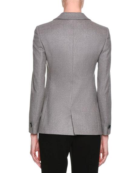 Classic Single-Button Blazer, Gray