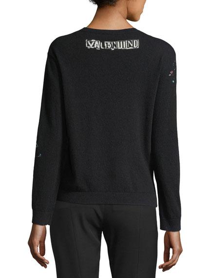 Punk Intarsia Wool-Cashmere Crewneck Sweater