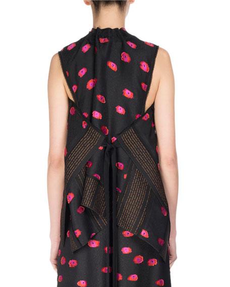 Fil Coupé Ikat Dot Sleeveless Tie-Back Top, Multicolor