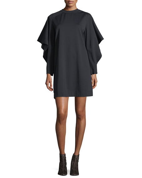 Marni Batwing-Sleeve Crewneck Shift Dress
