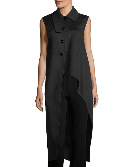 Marni High-Low Virgin Wool-Alpaca-Cashmere Vest