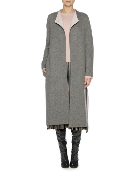 Cashmere Belted Wrap Coat
