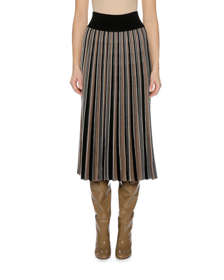 Agnona Pleated Knit Midi Skirt and Matching Items