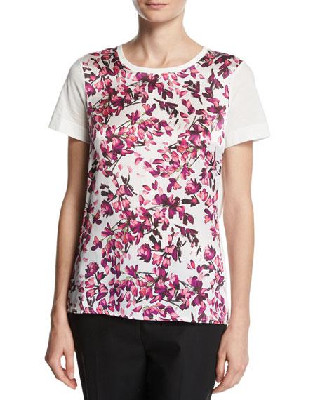 Floral Petal-Print T-Shirt, Fantasy