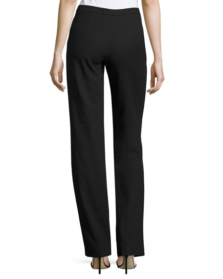 Tamineh Classic Stretch-Cotton Boot-Cut Pants, Black