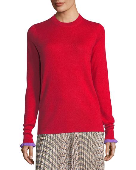 Derek Lam Crewneck Cashmere-Blend Sweater