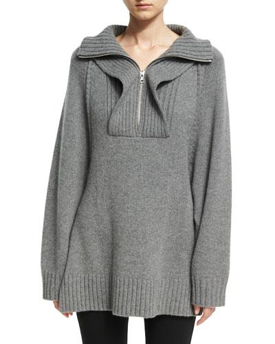 Oversized Ribbed Raglan Pullover