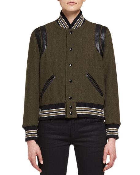 Teddy Varsity Bomber Jacket