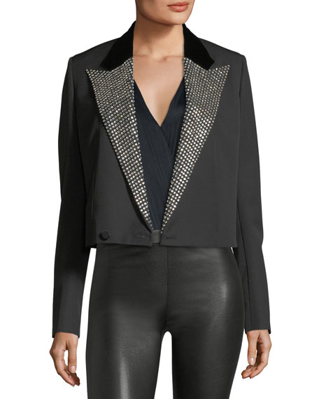 Saint Laurent Iconic Le Smoking Spencer Fitted Jacket