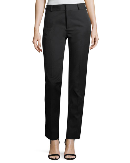 Saint Laurent Le Smoking Satin-Stripe Trousers