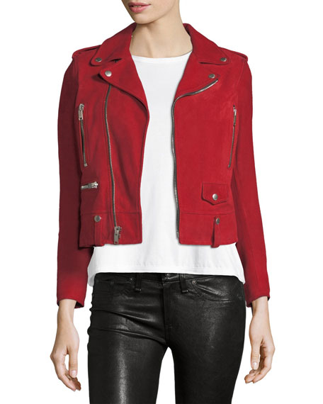 Classic Suede Moto Jacket by Saint Laurent