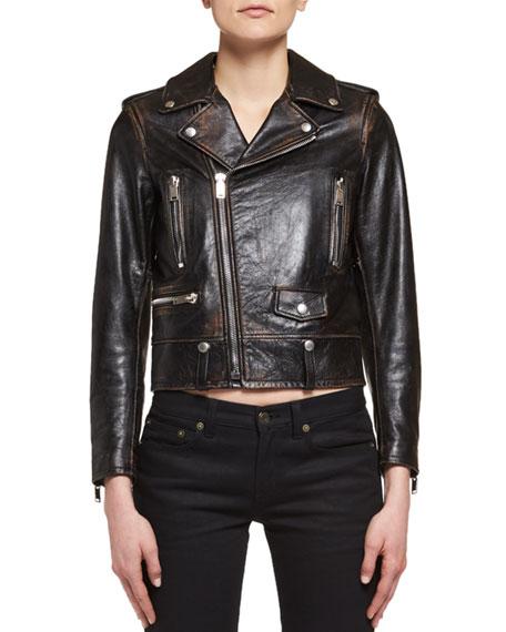 No Smoking Leather Moto Jacket