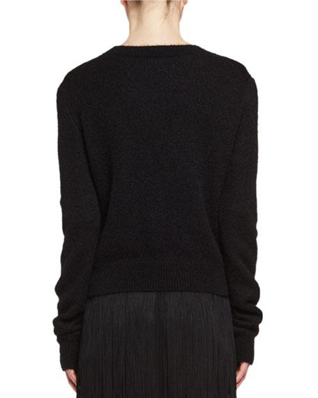 Lips Mohair Crewneck Sweater