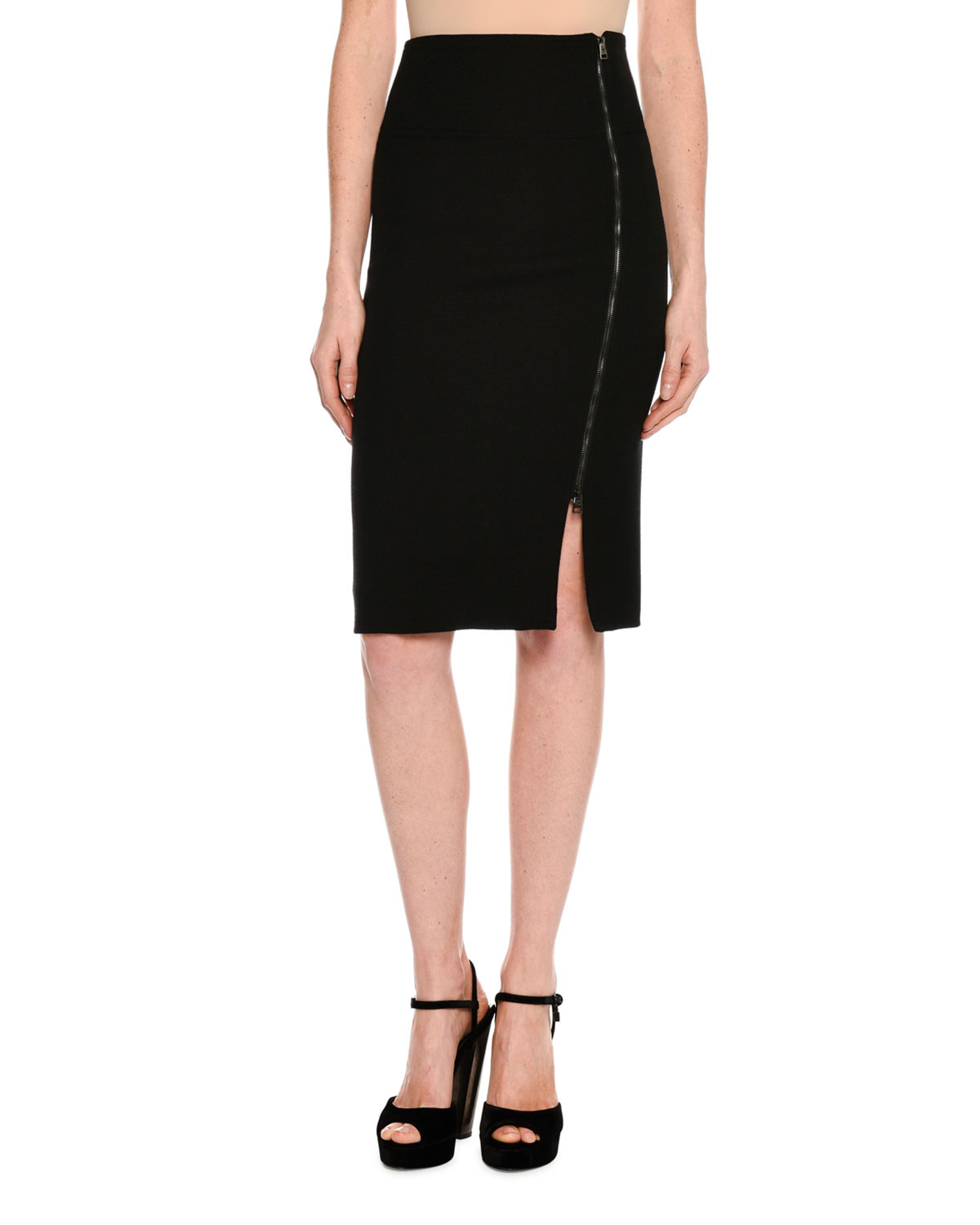 50fe493a54cfb1 Quick Look. TOM FORD · Side-Zip Fitted Pencil Skirt. Available in Black