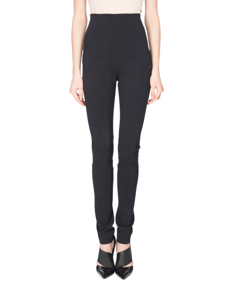Balmain High-Waist Leggings, Black
