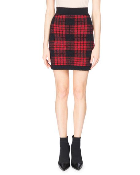 Balmain Button-Shoulder Wool Turtleneck Sweater, Black and