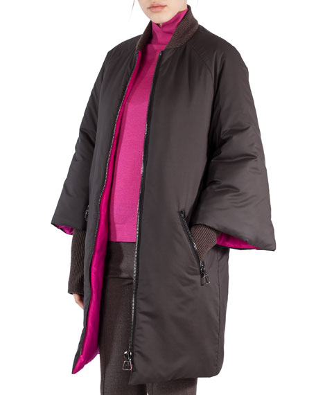 Akris Quilted Full-Sleeve Parka