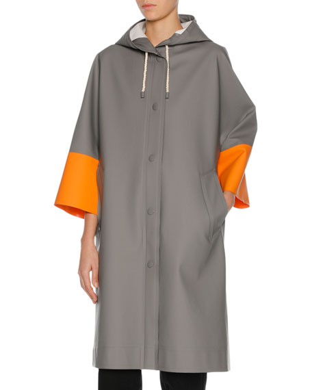 Marni x Stutterheim Colorblock Raincoat, Multicolor