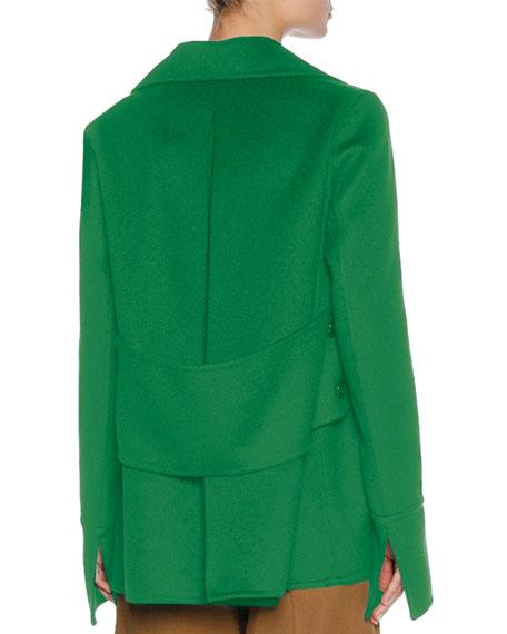 Single-Breasted Car Coat, Green