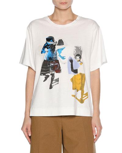 x Sally Smart Graphic T-Shirt, White