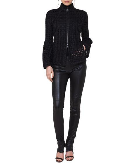 Akris Karl Eyelet Zip-Front Jacket and Matching Items