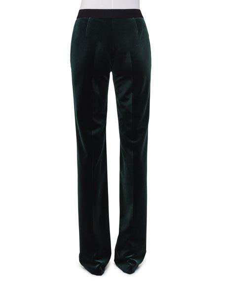Carl Velvet Straight-Leg Pants