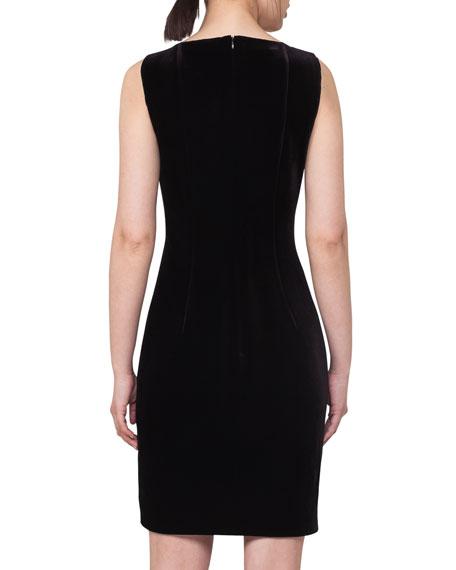 Sleeveless Velvet Sheath Dress