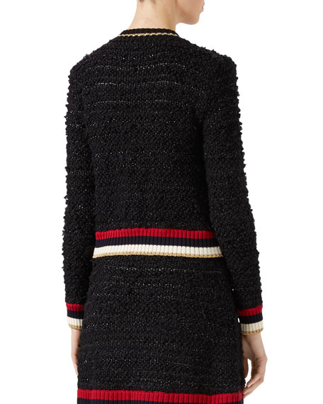 Knitted Cardigan with Web