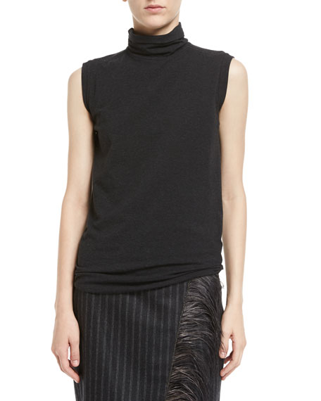 Cotton Jersey Turtleneck Tank