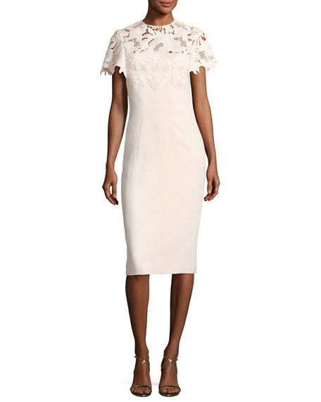 Guipure Lace Sheath Dress