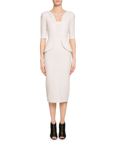 Comberton Peplum Sheath Dress