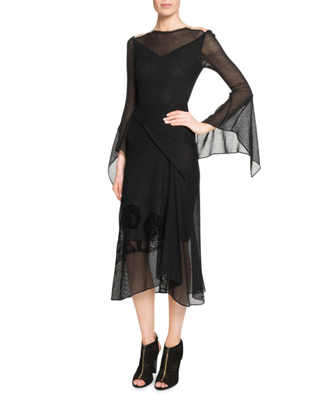 Roland Mouret Asterleigh Draped Bias-Cut Dress