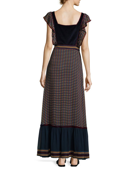 Printed Silk Georgette Maxi Dress