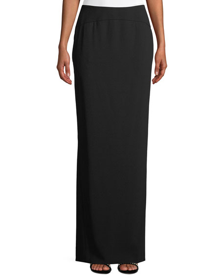 Escada Long Godet-Back Evening Skirt