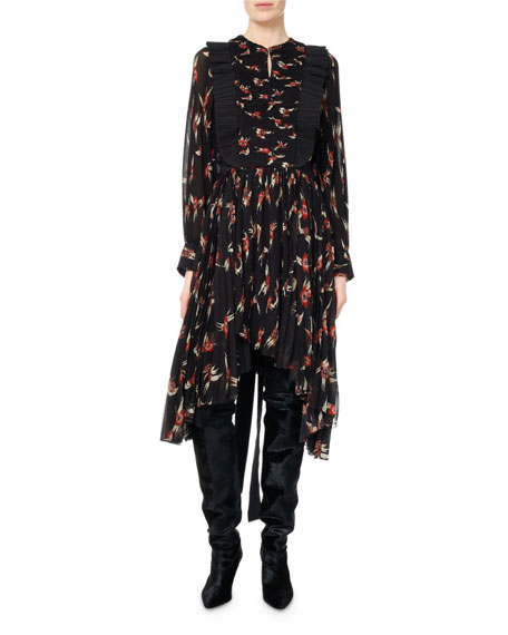 Isabel Marant Wesley Birds of Paradise Pleated Midi