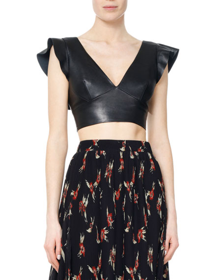 Glenside Leather Crop Top