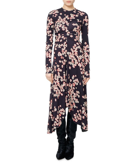 Isabel Marant Diana Cherry Blossom Jersey Midi Dress